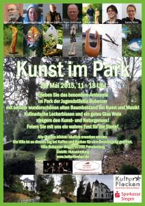 Kunst im Park Plakat (Anklicken zum Vergrößern)
